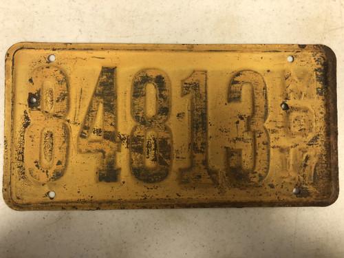 DMV Clear 1917 MISSOURI Passenger LLC License Plate YOM Clear 84813 MO