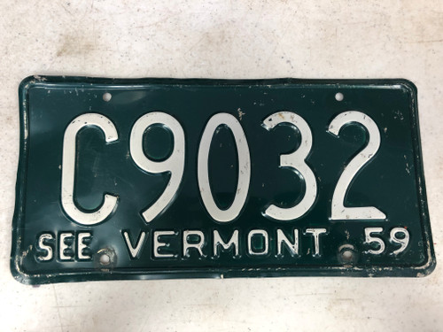 1959 See VERMONT License Plate C9032