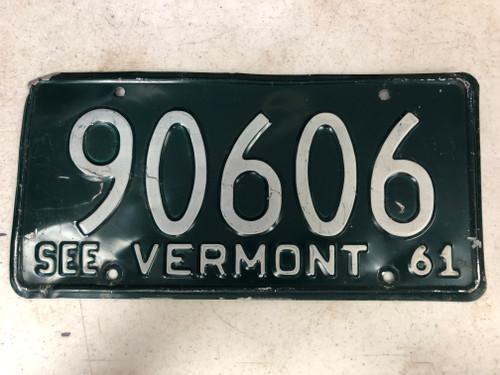 1961 See VERMONT License Plate 90606