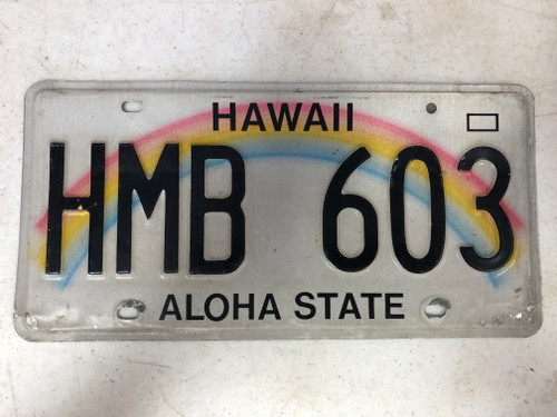 2008 HAWAII Aloha State License Plate HMB-603