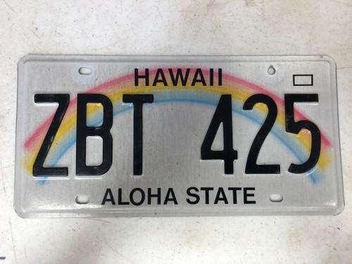 2008 HAWAII Aloha State License Plate ZBT-425