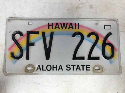 2008 HAWAII Aloha State License Plate SFV-226