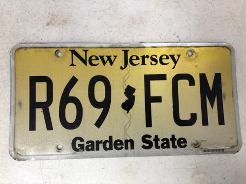 Expired NEW JERSEY Garden State License Plate R69-FCM 69 Nice