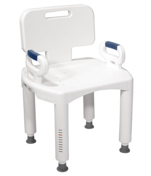 Premium Series Shower Chair with Back and Arms 12505
