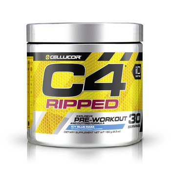 C4 Preworkout ripped icy blue razz 30 servings