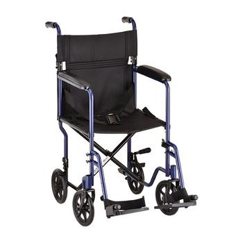 19″ Steel Transport Chair in Blue