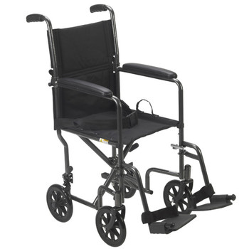 Steel Transport Chair 19 Silver