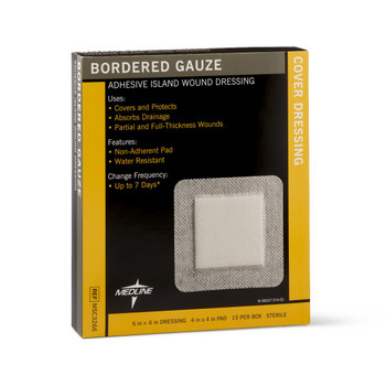 bordered gauze medline 6x6