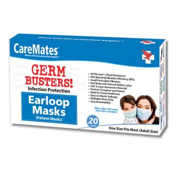 CareMates Earloop Masks – 20 count