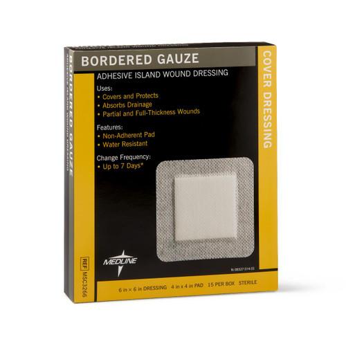 bordered gauze medline 6x6