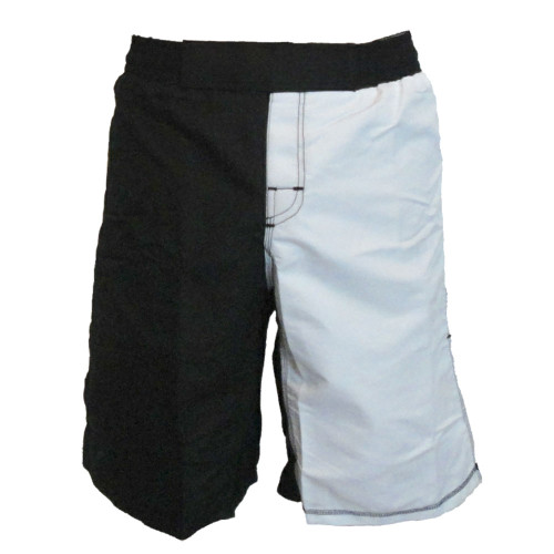 Black and White MMA Fight Shorts