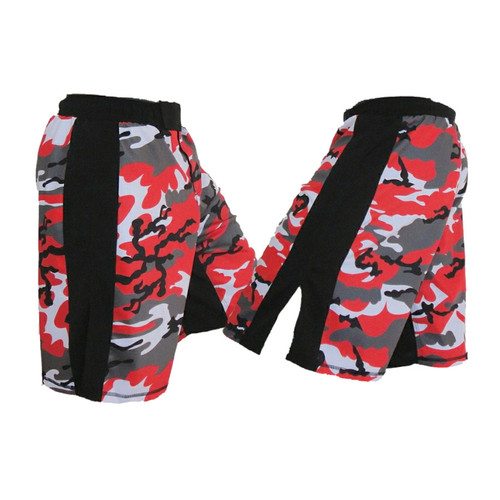 Red Camo Fight Shorts