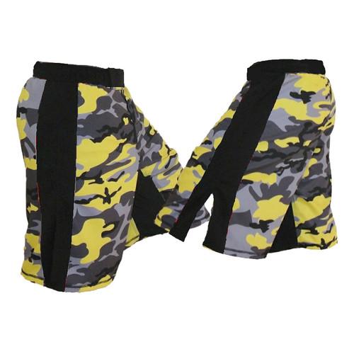 Yellow Camo Fight Shorts