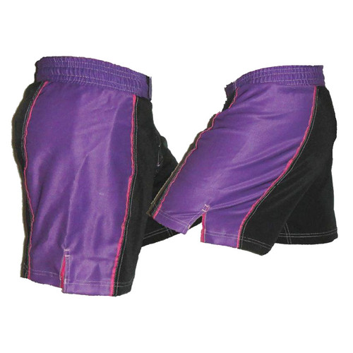 Purple Stripe Female Fight Shorts