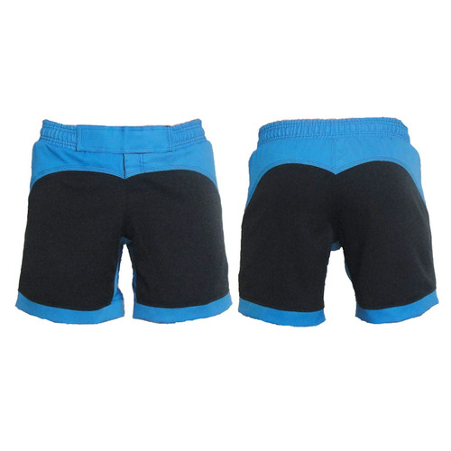 Black and Blue Female Fight Shorts