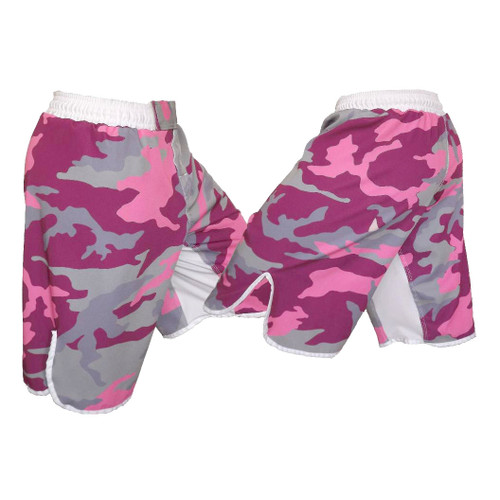 Youth Pink Camo MMA Fight Shorts