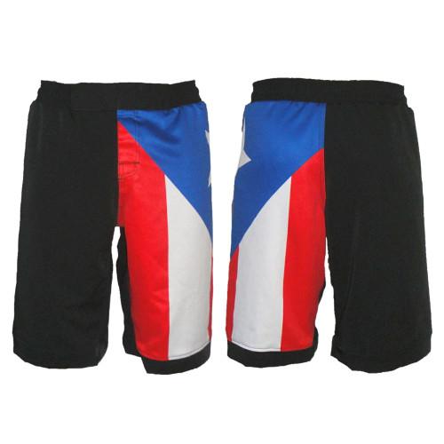Puerto Rico Flag Fight Shorts