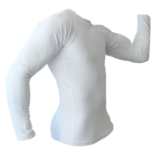 White Long Sleeve Rash Guard MMA Shirt