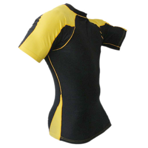 Black & Gold Rash Guard MMA Shirt