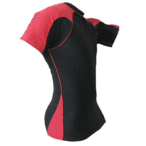Black & Red Rash Guard MMA Shirt