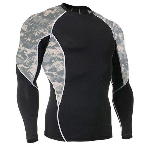 Long Sleeve Side Panel ACU Rash Guard MMA Shirt