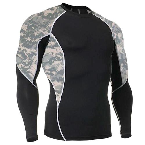Long Sleeve Side Panel ACU Rash Guard MMA Shirt