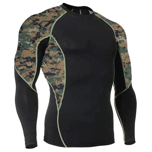 Long Sleeve Side Panel MARPAT Rash Guard MMA Shirt