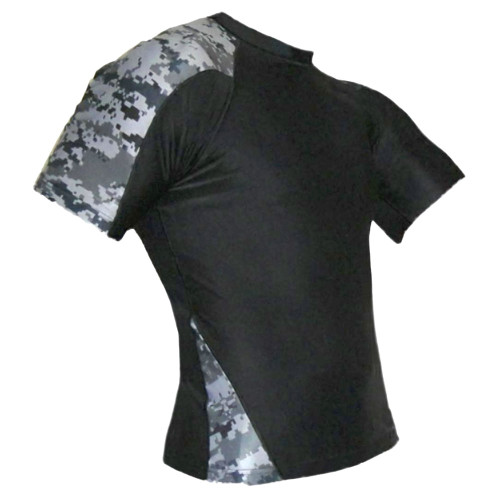 Navy Camouflage Rash Guard MMA Shirt