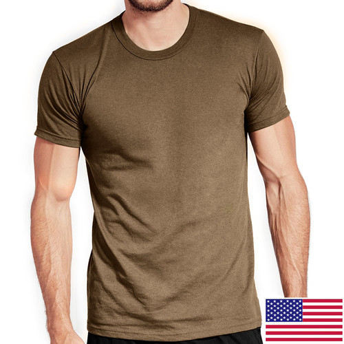 Military Tan OCP T-Shirt 100 Percent Cotton Poly 3-Pack