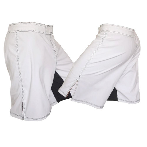 MMA Board Shorts Black White Stitching Training Mixed Martial Arts Solid Blank