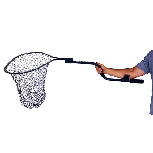 "YakAttack Leverage Landing Net 20"" x 21"" Hoop with 46"" Extension Foam Arm"