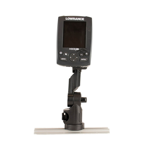 YakAttack Lowrance Fish Finder Mount with Track Mounted LockNLoad Mounting System Front