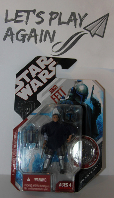 Jango Fett Star Wars Action Figure from 30th Anniversary Toy Line NIP