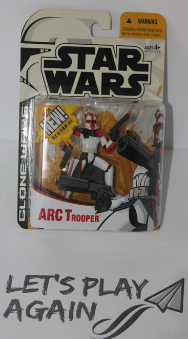ARC Trooper Clone Wars Animated Series Star Wars Action Figure from The Clone Wars Animated Toy Line NIP