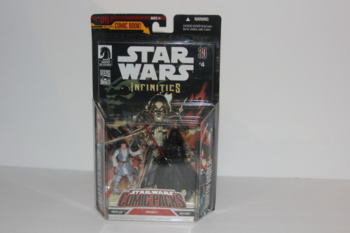 Darth Vader and Princess Leia Infinites Star Wars Action Figures from SW Comic Packs Toy Line NIP