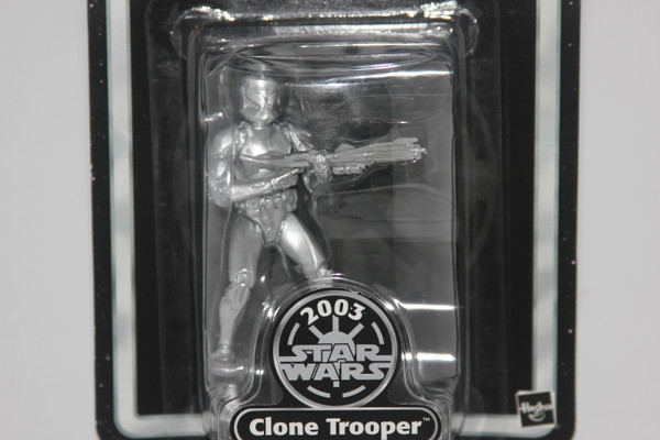 2003 Silver Clone Trooper Star Wars Action Figure from Anniversary Line NIP