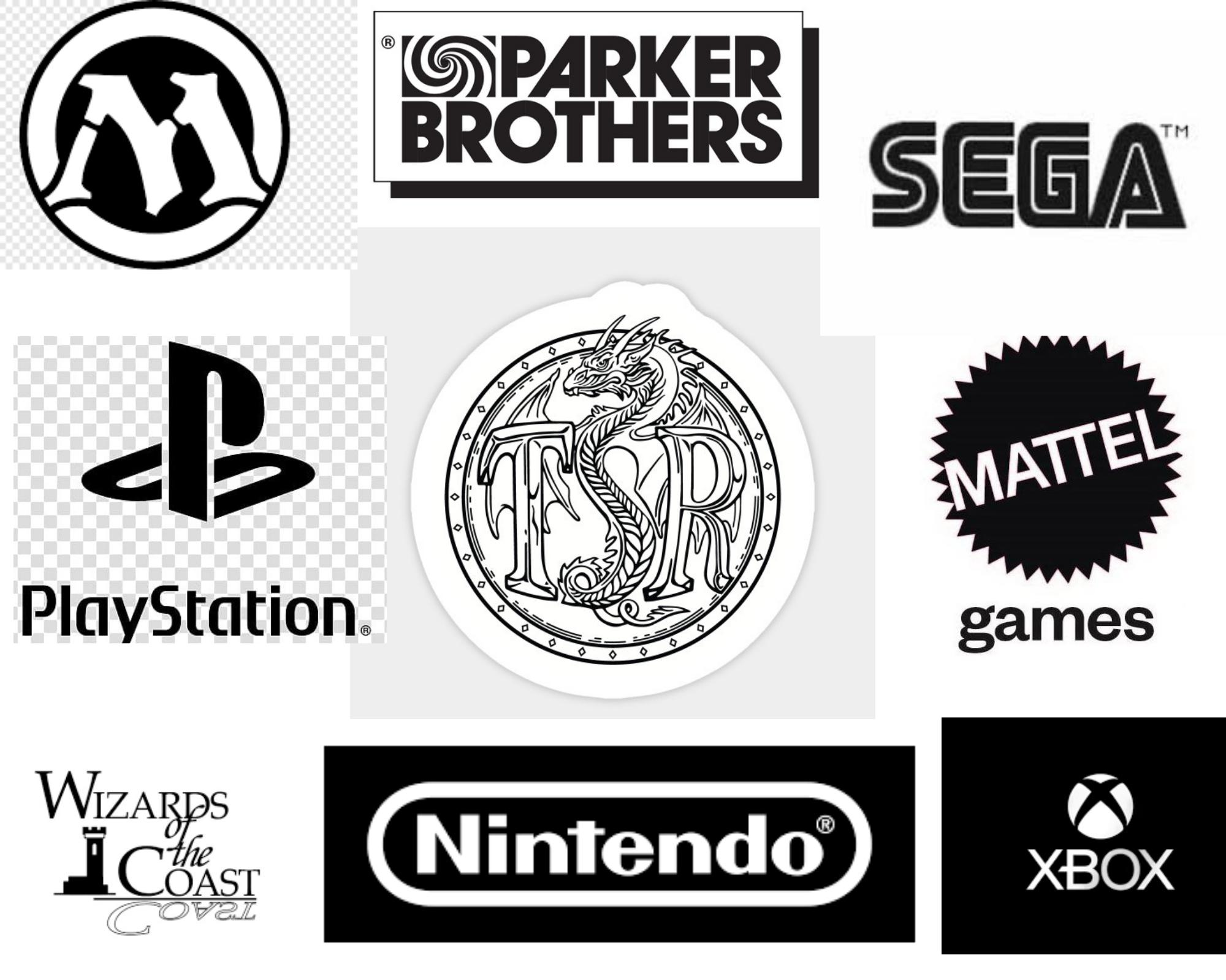 games, board games, video games, card games, RPG games, sega, mattel, nintendo, Wizards of the coast, Play Station, X box, Parker Brothers, Milton Bradley, Magic, Pokemon,