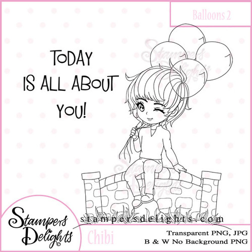 This image would be fabulous for Birthday, Valentines, Get Well and sooooo much more! Digital Download 2 Design 1 Sentiments 8 Digital Stamps JPG & PNG formats 300 dpi © 2009 Stampers Delights - Designs by Janice Cullen