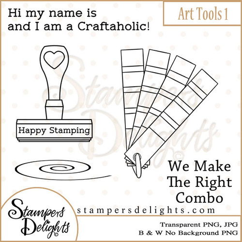 These Craft tools will make some wonderful additions to other stamps or can stand alown making some wonderful projects. 3 Design 2 Sentiments 12 Digital Stamps JPG & PNG formats 300 dpi © 2009 Stampers Delights - Designs by Janice Cullen