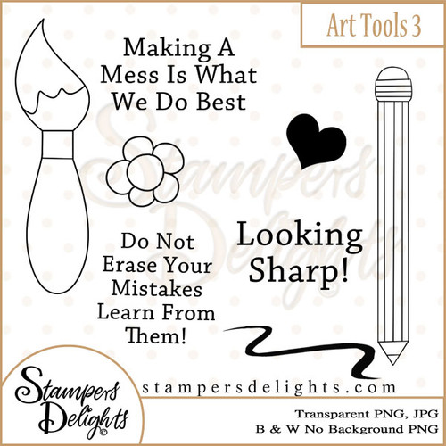 These Craft tools will make some wonderful additions to other stamps or can stand alone making some wonderful projects. 5 Design 3 Sentiments 18 Digital Stamps JPG & PNG formats 300 dpi © 2009 Stampers Delights - Designs by Janice Cullen