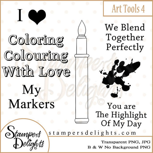 These Craft tools will make some wonderful additions to other stamps or can stand alone making some wonderful projects. Digital Download 3 Design 5 Sentiments 21 Digital Stamps JPG & PNG formats 300 dpi © 2009 Stampers Delights - Designs by Janice Cullen