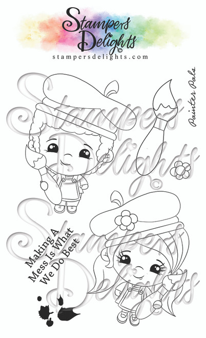 """4 x 6"""" A6 set Character is approximately 3"""" You Can Sell You Hand made Creations! ANGEL POLICY ONLY --------------------------------- © 2009 Stampers Delights - Designs by Janice Cullen"""