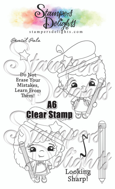 "A6 photo polymer stamp set.  Contains 7 stamps 4 x 6""/A6 set Character is approximately 3"" You Can Sell You Hand made Creations!  ANGEL POLICY ONLY --------------------------------- © 2009 Stampers Delights - Designs by Janice Cullen"
