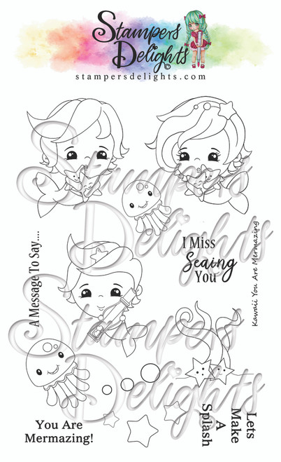 "A6 photo polymer stamp set.  Contains 16 stamps 4 x 6"" A6 set Character is approximately 2"""