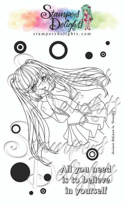 """Anime Believe In Yourself (Clear Stamps 4X6"""")"""