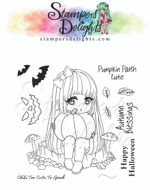 """Chibi Too Cute To Spook Limited Addition Clear Stamps 4X4"""""""