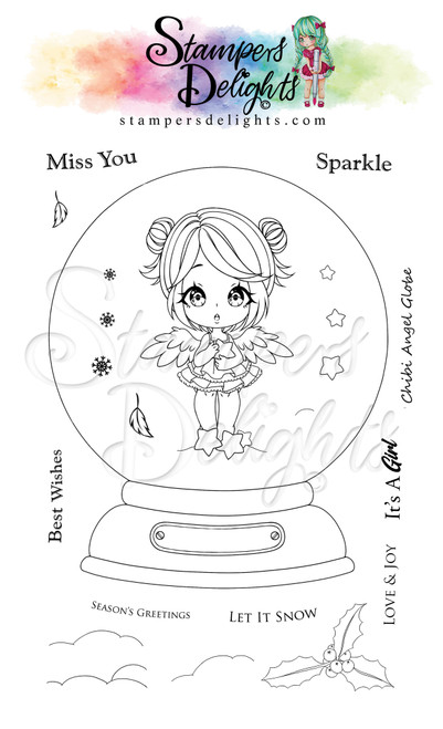 """Chibi Angel Limited Addition Clear Stamps 4X6"""""""