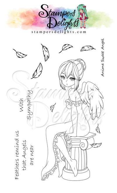"""Anime Sweet Angel Limited Addition Clear Stamps 4X6"""""""