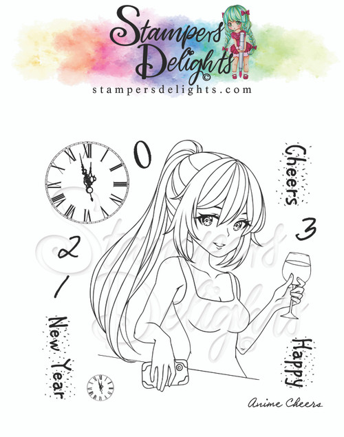 """Anime Cheers Limited Addition Clear Stamps 4X4"""""""