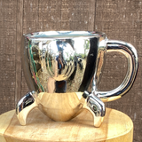 "Silver Rocket mug planter 3""x 3.5"""